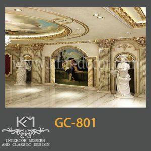 گچبری دستی ستون GC-801، ستون گچبری ، گچبری ، گچبری دستی سنتی
