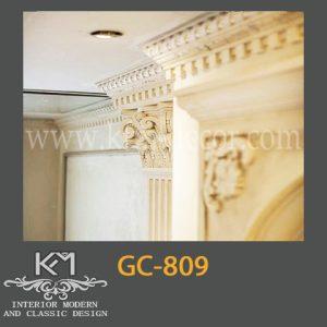 گچبری دستی ستون GC-809، ستون گچبری ، گچبری ، گچبری دستی سنتی